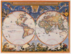 Nova et Accuratissima Terrarum Orbis Tabula 1662 Joan Blaeu Atlas maior